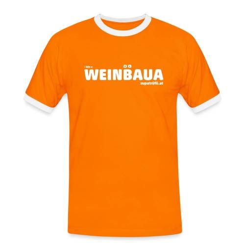 WEINBAUA - Männer Kontrast-T-Shirt