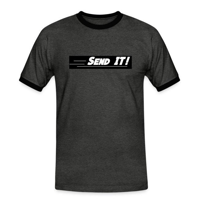 send it logo black and white