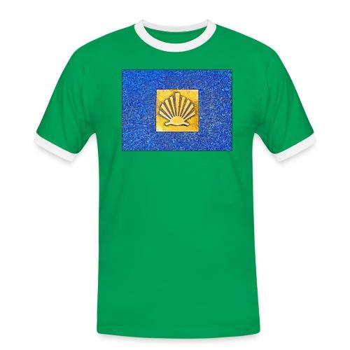 Scallop Shell Camino de Santiago - Men's Ringer Shirt