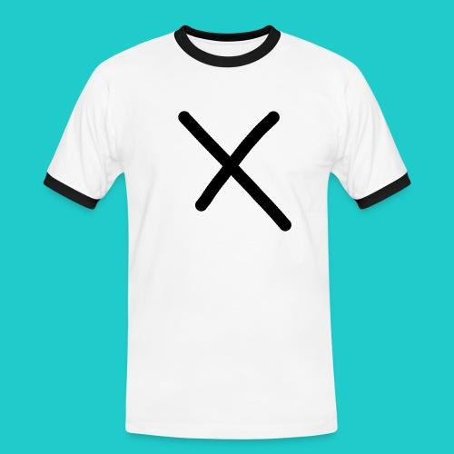 X - Männer Kontrast-T-Shirt