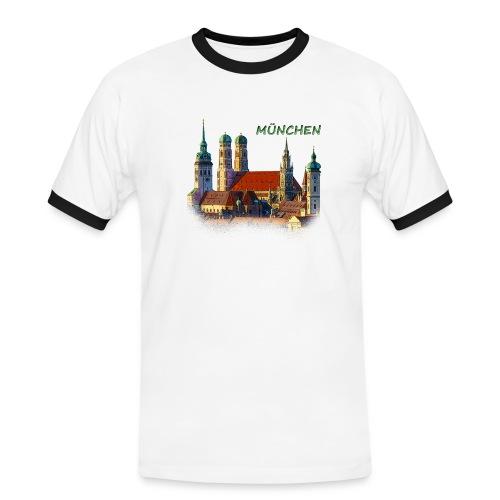 München Frauenkirche - Männer Kontrast-T-Shirt