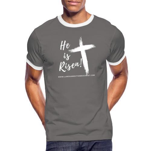 He is Risen ! V2 (Il est ressuscité !) - T-shirt contrasté Homme