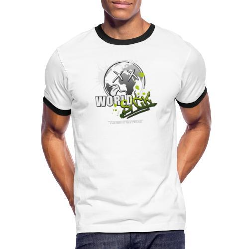 world sick - Männer Kontrast-T-Shirt
