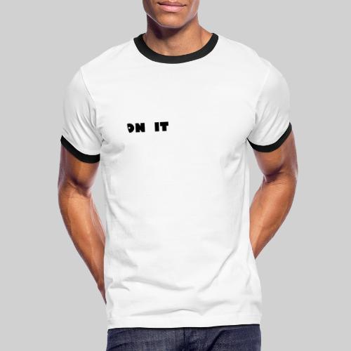Logo 5 on It blanc / noir - T-shirt contrasté Homme