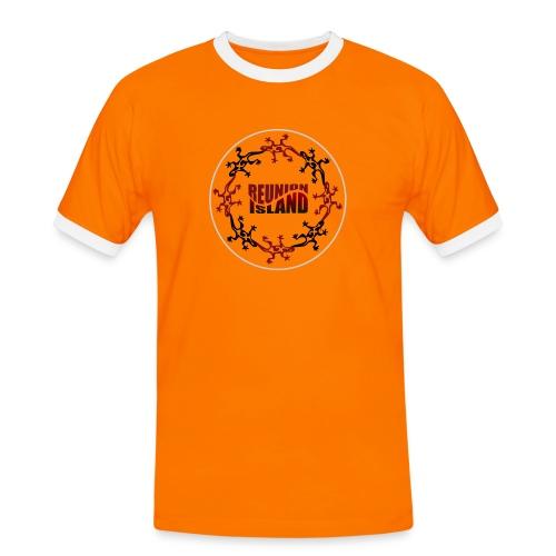 Badge Reunion Island Rouge - T-shirt contrasté Homme