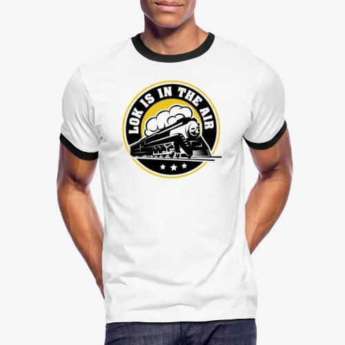 LOK IS IN THE AIR - Männer Kontrast-T-Shirt