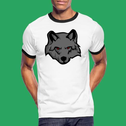 wolf logo - Maglietta Contrast da uomo