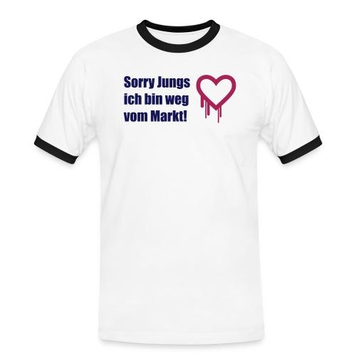 sorry jungs - bin weg vom - Männer Kontrast-T-Shirt