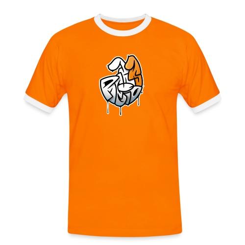 PRL DOG - Koszulka męska z kontrastowymi wstawkami