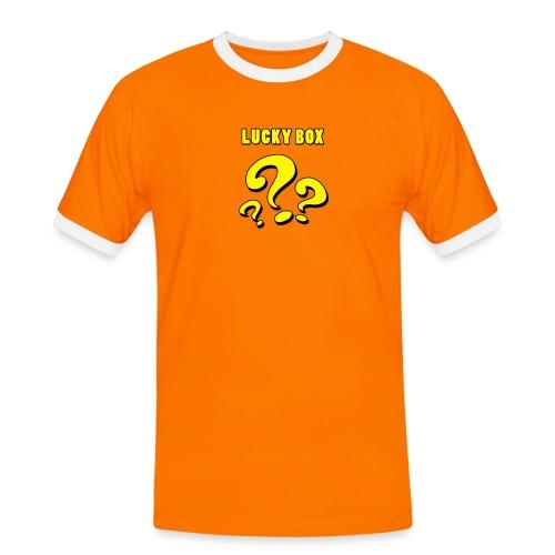 Lucky Box - Kontrast-T-shirt herr