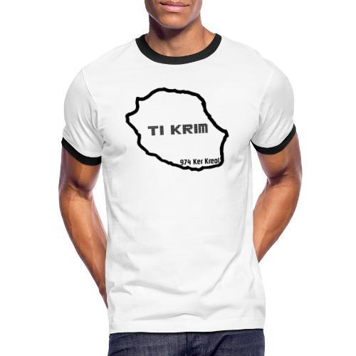 Ti krim - noir - T-shirt contrasté Homme