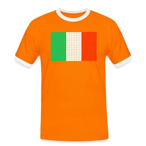 italian flag - Maglietta Contrast da uomo