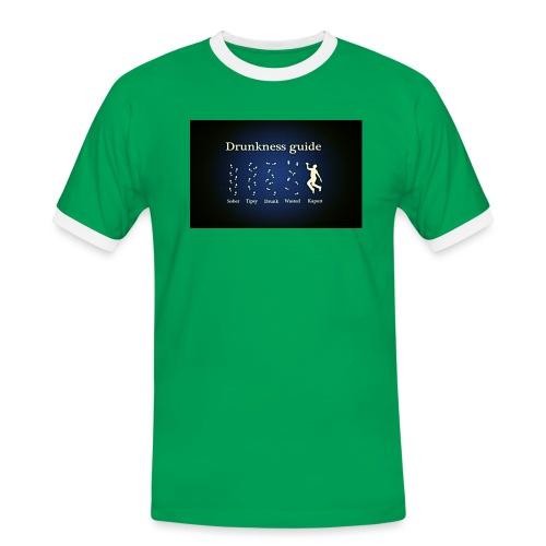 DRUNK - Mannen contrastshirt