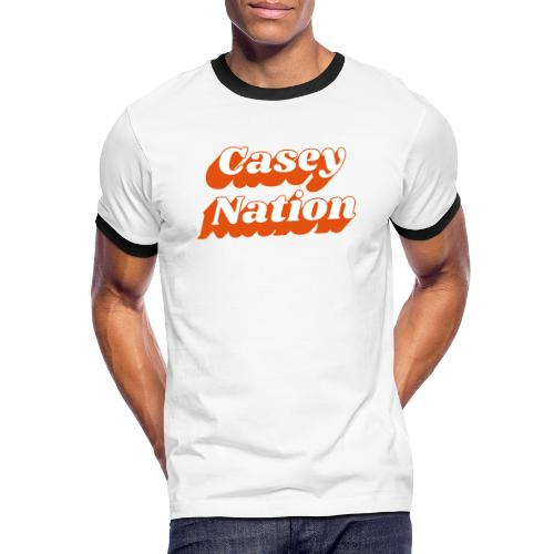 CaseyNation - Kontrast-T-shirt herr