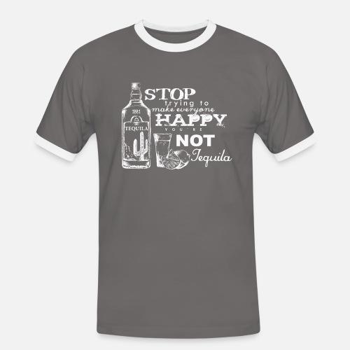 Happy Tequila - Männer Kontrast-T-Shirt