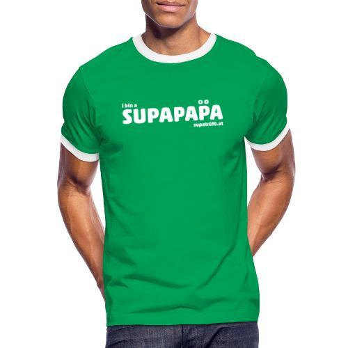i bin a supapapa - Männer Kontrast-T-Shirt
