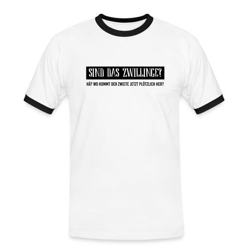 BIO Stoffbeutel: Sind das Zwillinge? - Männer Kontrast-T-Shirt