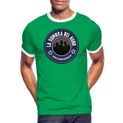 Logo/sombra - Camiseta contraste hombre