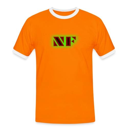 My Logo - Kontrast-T-skjorte for menn
