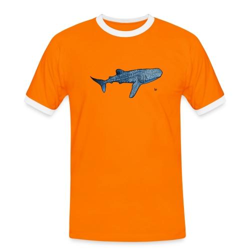 Whale shark - Kontrast-T-skjorte for menn