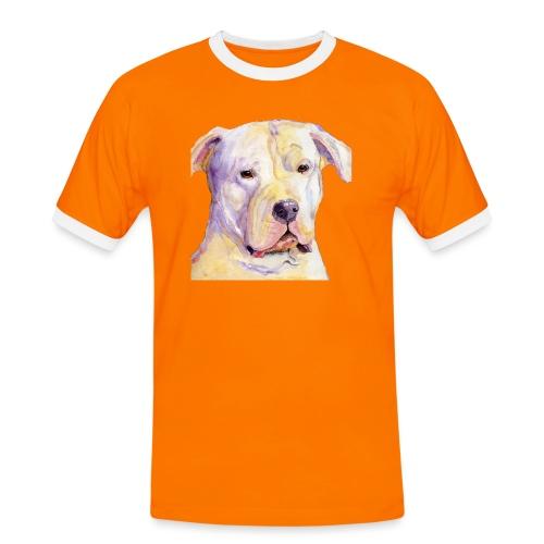 dogo argentino - Herre kontrast-T-shirt