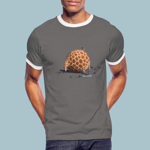 Rollin' Wild - Giraffe drinking - Men's Ringer Shirt