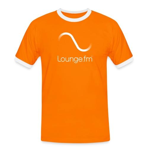 loungefm logo weiss - Männer Kontrast-T-Shirt
