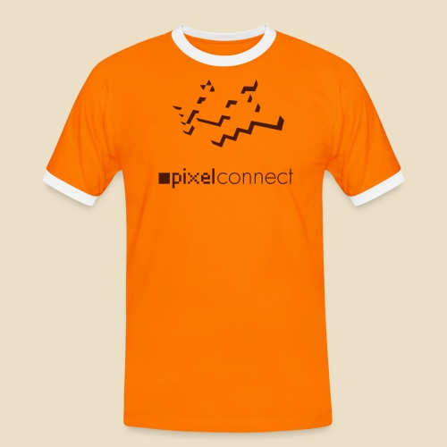 pixelfox connect mono - Männer Kontrast-T-Shirt