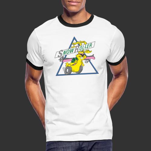 SnowRoller logo - Kontrast-T-shirt herr
