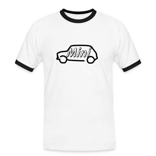 mini outline single colour - Men's Ringer Shirt