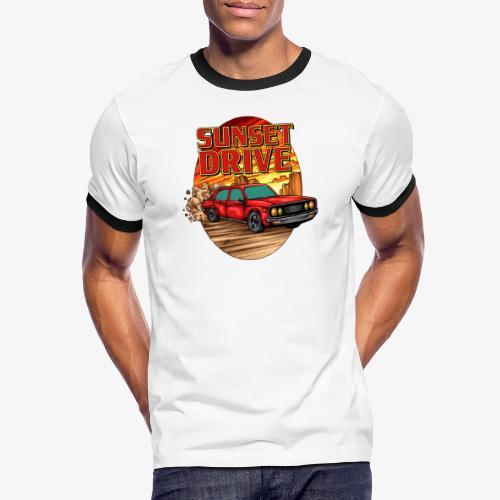 Sunset Drive - Männer Kontrast-T-Shirt
