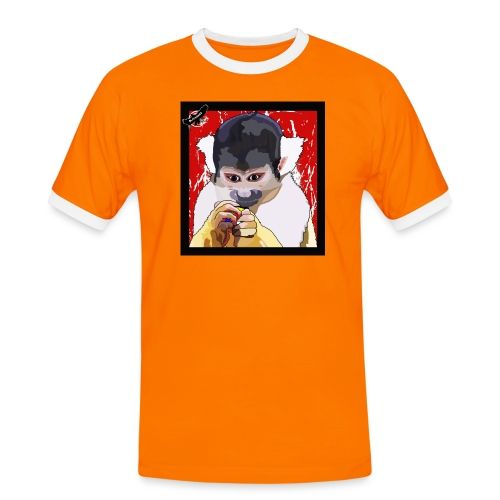 'Clever Monkey 2' by BlackenedMoonArts, w. logo - Herre kontrast-T-shirt