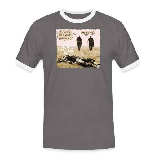 L'humour m'a tuer - T-shirt contrasté Homme