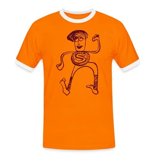 Super Pino - Maglietta Contrast da uomo