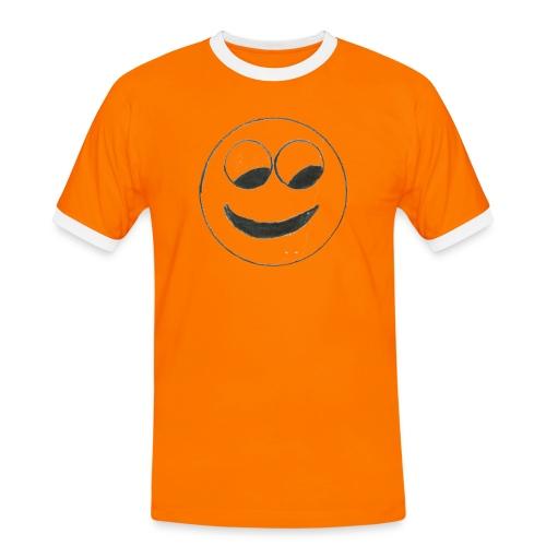 Smiley - Männer Kontrast-T-Shirt