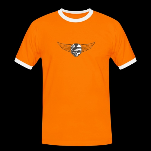 Biker skull - Men's Ringer Shirt