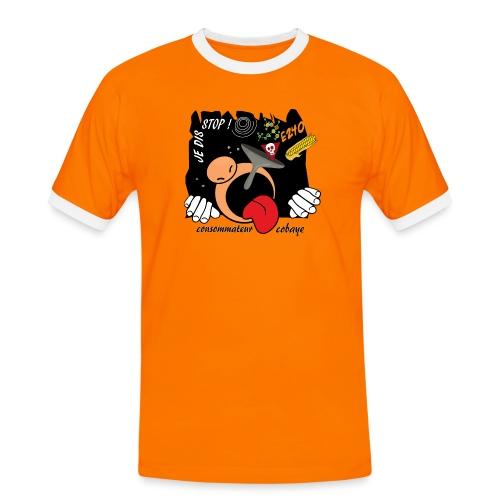consommateur cobaye - T-shirt contrasté Homme