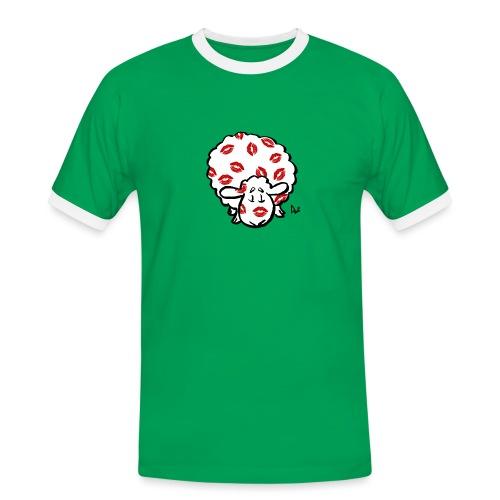 Kuss Mutterschaf - Männer Kontrast-T-Shirt