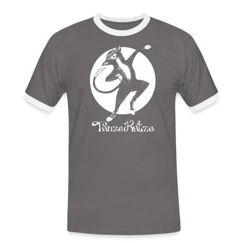 TanzeKatze - Männer Kontrast-T-Shirt