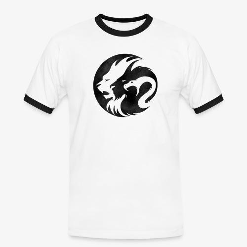 RBNDLX - LION / DRAGON / SNAKE EFFECT - Männer Kontrast-T-Shirt