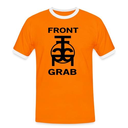 Frontgrab Sign Logo - Kontrast-T-shirt herr