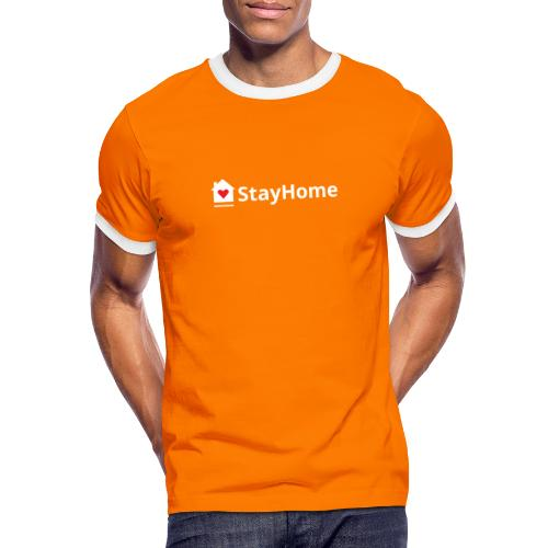 Stay Home - Camiseta contraste hombre