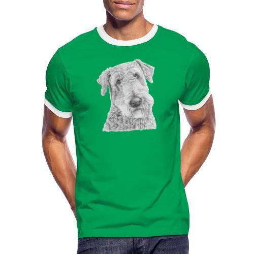 airedale terrier - Herre kontrast-T-shirt
