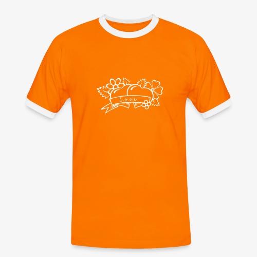l ov e - Koszulka męska z kontrastowymi wstawkami