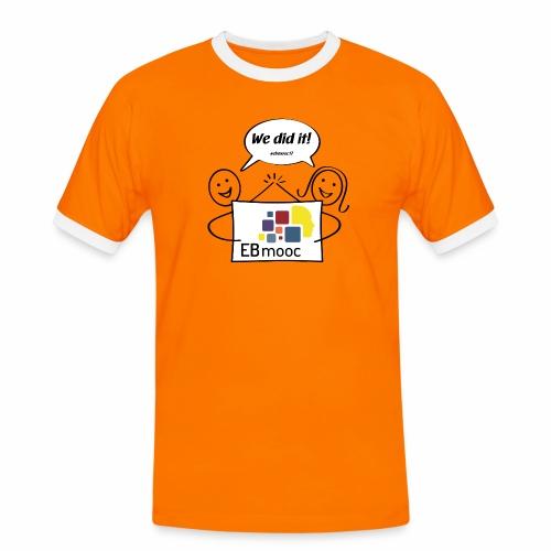 EBmooc 2017 Abschluss Comic - Männer Kontrast-T-Shirt
