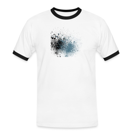 färger - Kontrast-T-shirt herr