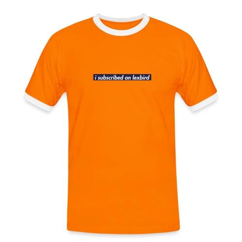 lexbird - Kontrast-T-shirt herr