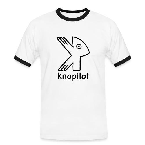 K-Vogel schwarz Knopilot - Männer Kontrast-T-Shirt