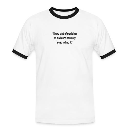 Quote RobRibbelink audiance Phone case - Men's Ringer Shirt