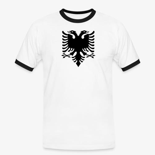 Shqiponja - das Wappen Albaniens - Männer Kontrast-T-Shirt